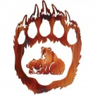Bear Paw/Two Much Fun Metal Wall Art - -DISCONTINUED