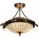 Greenbriar Oak Semi-Flushmount Ceiling Light