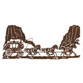 Stage Coach Metal Wall Art-DISCONTINUED