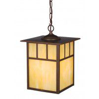 "Mission 9"" Outdoor Pendant Burnished Bronze"