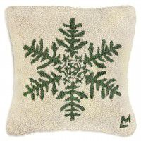 "Green Flake 18"" Wool Pillow"