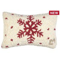 "Red Flake 8"" x 12"" pillow set-2"