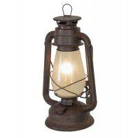 "12""H Miner's Lantern Table Lamp"
