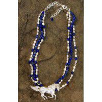 3 Strand Horse Necklace-DISCONTINUED