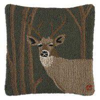 Woodland Deer Wool Pillow