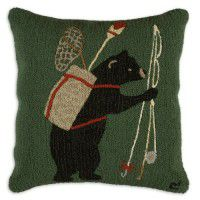 Bear Fishing Pillow