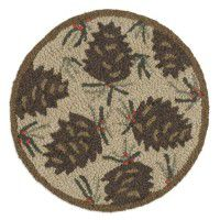 Pine Cones and Needles Chair Pad-Set of 4