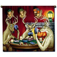 Deer Poker Wall Hanging