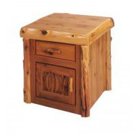 Enclosed Log End Table