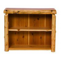 Small Cedar Log Bookshelf