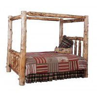Log Canopy Beds