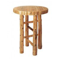 Round Log Pub Table