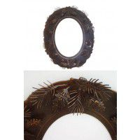 Metal Pinecone Mirror