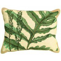 Wide Leaf Fern Pillow