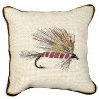 Llama Streamer Fishing Fly Pillow
