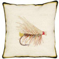 Caddis Fishing Fly Pillow