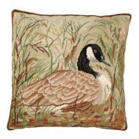 Canada Goose Needlepoint Pillow