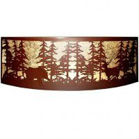 Tall Pines Bear And Deer Wall Sconce