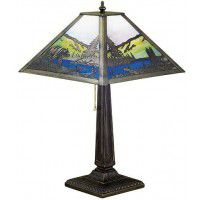 Bear On Lake Filigree Table Lamp