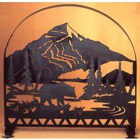 Bear Creek Arched Fireplace Screen