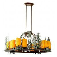 Oval 12 Light Chandelier