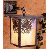 Pine Cone Lantern Outdoor Wall Sconce