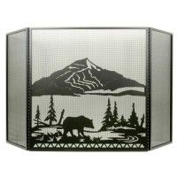 Black Bear Folding Firescreen