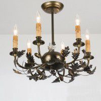 Leaf & Acorn Mini Chandelier