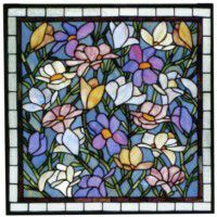 Magnolias Stained Glass Window