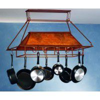Geometric Lighted Pot Rack