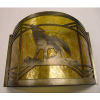 Western Wolf Sconce