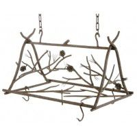 Rustic Pine Pot Rack - Small