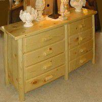 Eight Drawer Lodge Pole Pine Dresser