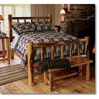 Picket Fence Deluxe Log Bed
