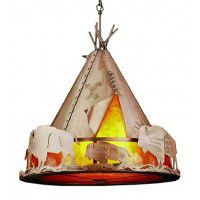 Teepee Pendant Light with Amber Mica