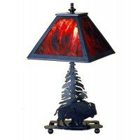 Buffalo And Pine Accent Lamp