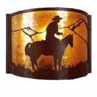Mountain Cowboy Wall Sconce