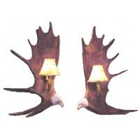 Moose Antler Eagle Sconces