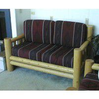 Lodge Pole Pine Log Loveseat