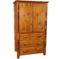 Lodge Pole Pine Log Armoire