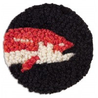 Trout Hand-Hooked Wool Coaster Set of 4