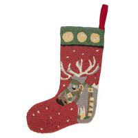 Reindeer Wool Stocking 9 x 20