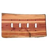Custom Rustic Wooden Quad Toggle Plate