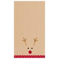 Reindeer Waffle Kitchen Towel 100% Cotton
