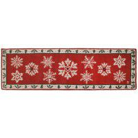"Falling Flakes on Holly Wool Runner 30"" x 8'"
