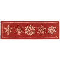 "Falling Flakes Hand-Hooked Wool Runner 30"" x 8'"