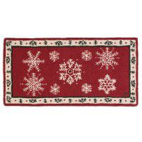 Falling Flakes 2 x 4 Hooked Wool Rug