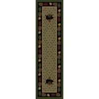 Patchwork Bear Runner - Green
