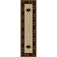 Patchwork Bear Runner-Natural