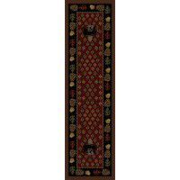Patchwork Bear Runner - Red